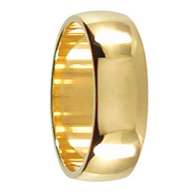 7mm Yellow Gold Wedding Band