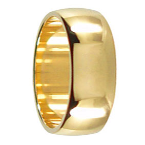 8mm Yellow Gold Wedding Ring