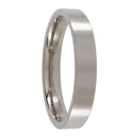 4mm Titanium Mens Ring