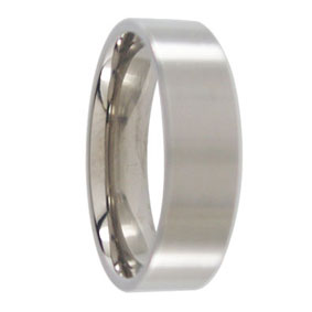 6mm Titanium Mens Ring