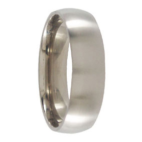 Brushed Titanium Wedding Ring