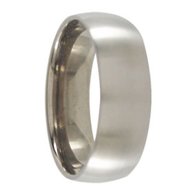 Satin 7mm Titanium Mens Ring