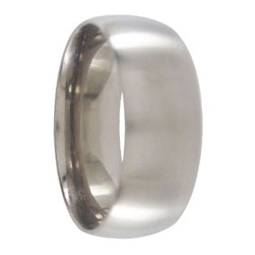 Wide Titanium Mens Ring