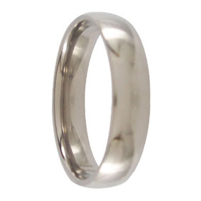 5mm Polished Titanium Ring