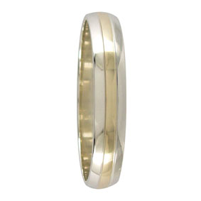 2-Tone 4mm Mens Wedding Ring