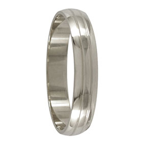 White Gold Mens Ring