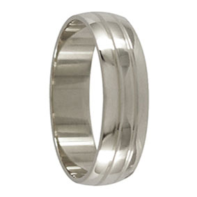 6mm White Gold Ring