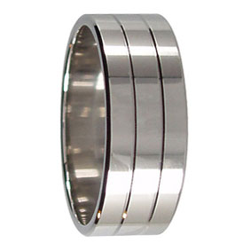 Twin Groove Wedding Ring