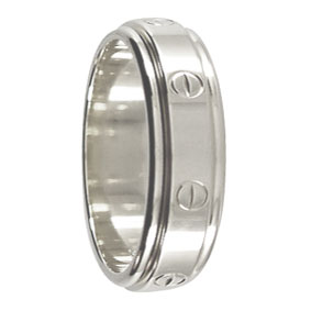 White Gold Mens Wedding Ring