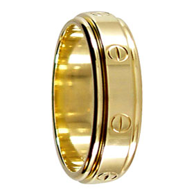 Gold Screw Wedding Ring