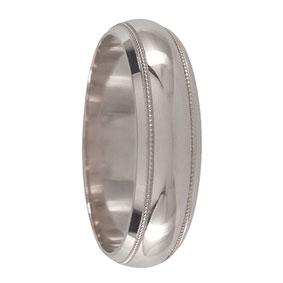 White Gold Milgrain Wedding Ring