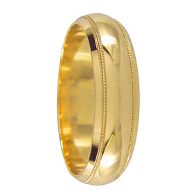 Milgrain Gold Wedding Ring