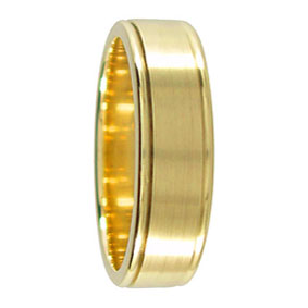 Twin Groove Gold Wedding Ring