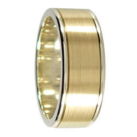 2 Tone Gold Wedding Ring