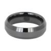 Polished Ceramic Mens Wedding Ring