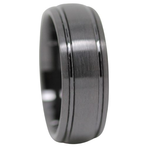Satin Ceramic Mens Wedding Ring
