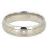 Titanium Mens Engagement Ring With Single Stone