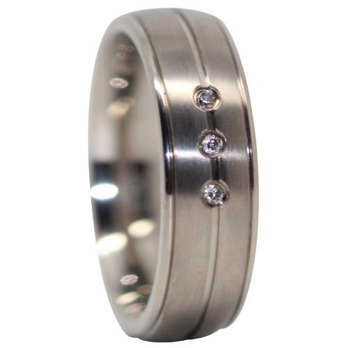 Titanium Mens Engagement Ring