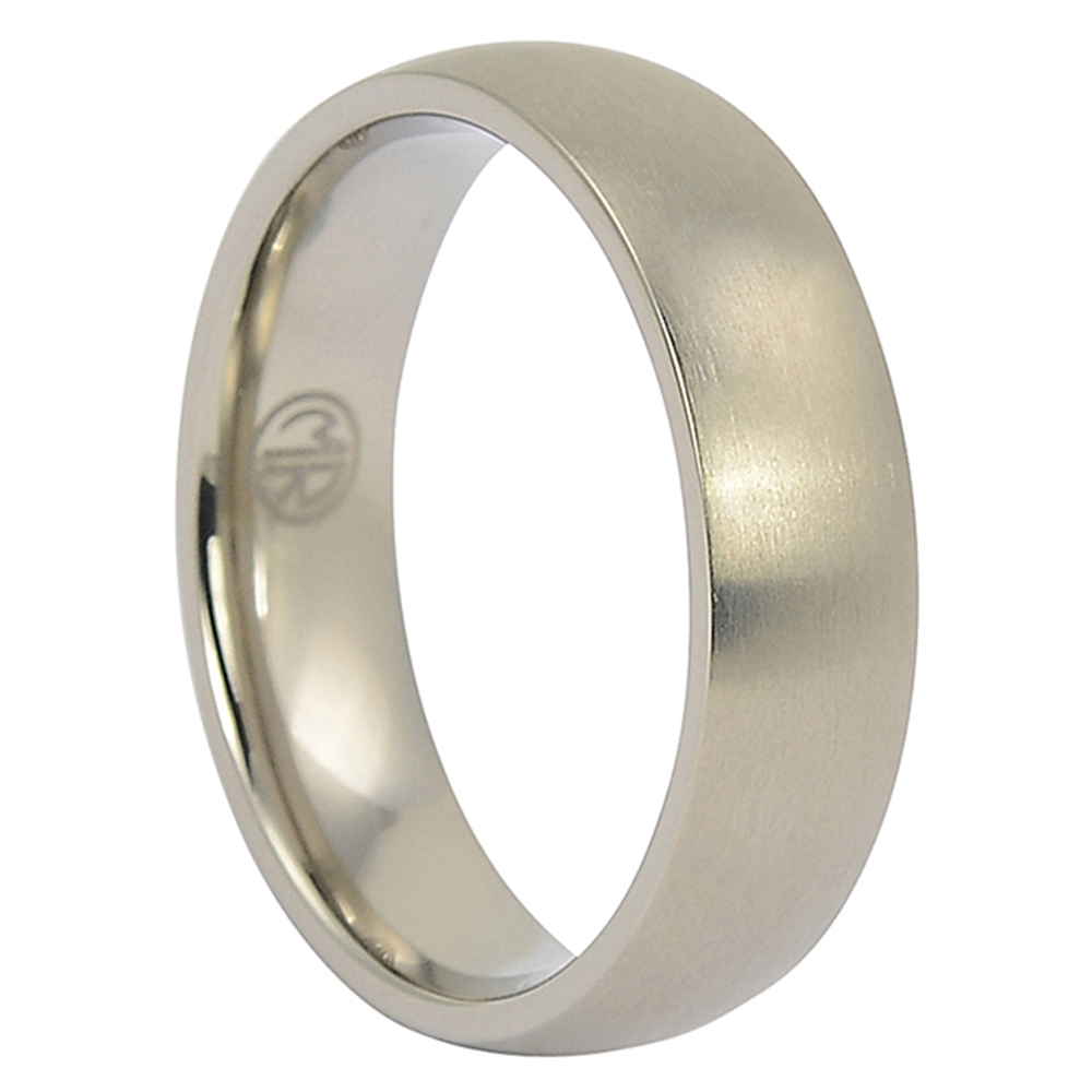 ITR-114-Satin Mens Titanium Wedding Ring