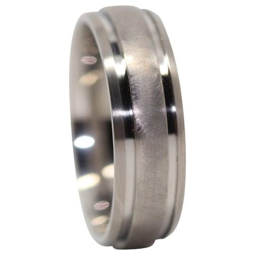 Comet Titanium Mens Ring