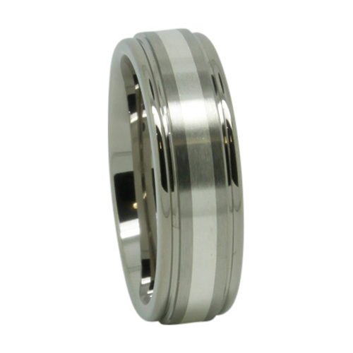 Titanium Silver Mens Wedding Ring