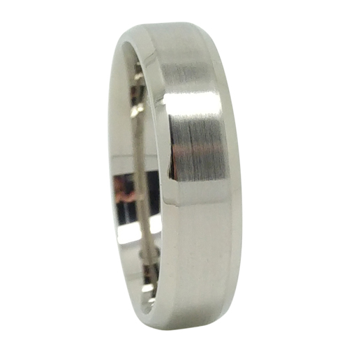 custom 6mm brushed tapered titanium mens wedding ring - Titanium Mens Wedding Rings