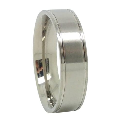 Custom Mens Titanium Wedding Ring