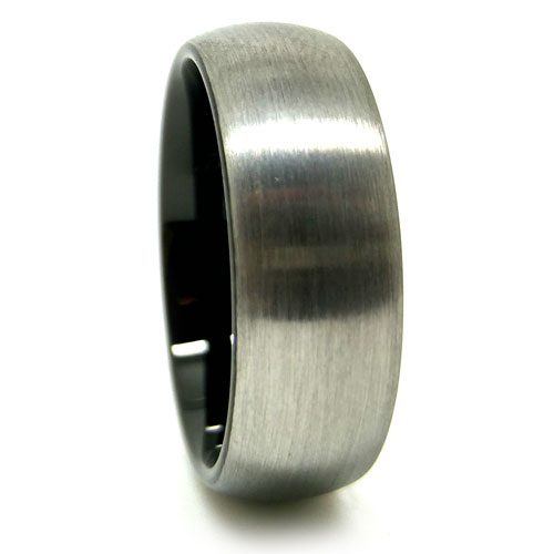 Titanium Black Mens Wedding Ring