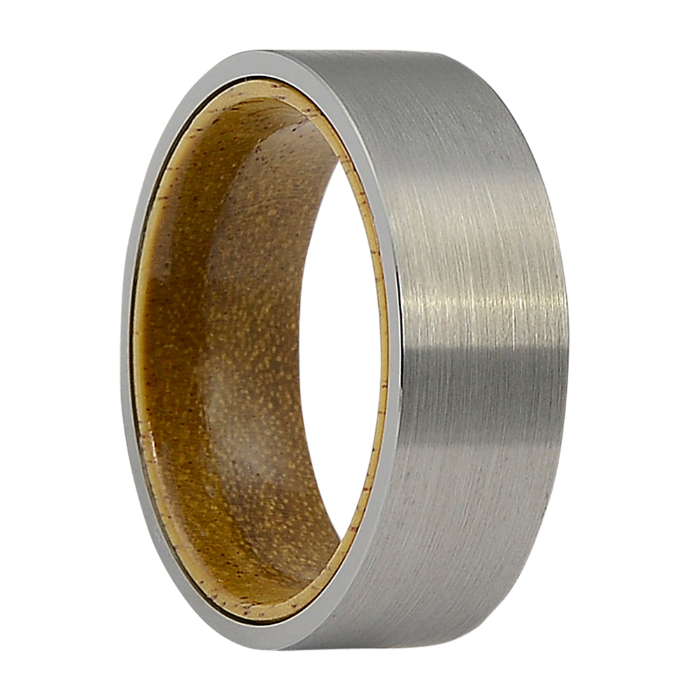 FTR-102-Tungsten and Koa Wood Mens Ring
