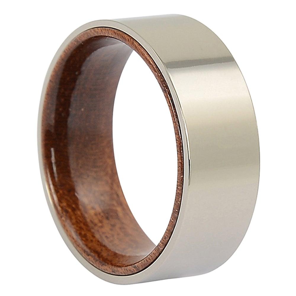 ITR-153-Titanium Rosewood Mens Ring