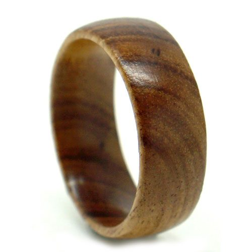 Pure Koa Wood Mens Ring