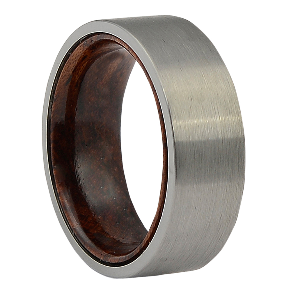 FTR-103-Tungsten and Rosewood Mens Ring