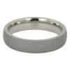 Dark Thin Matte Finish Titanium Dome Men's Ring
