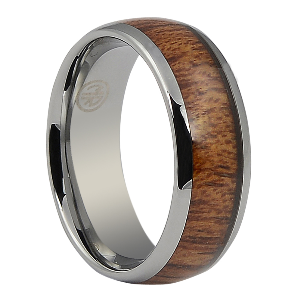 ITR-160-Titanium and Rosewood Mens Ring