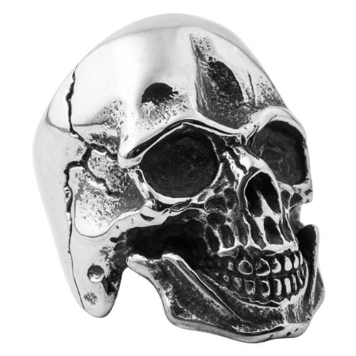 Cracked Skull Ring