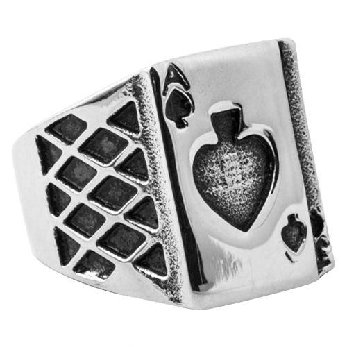 Ace Of Spades Mens Signet Ring