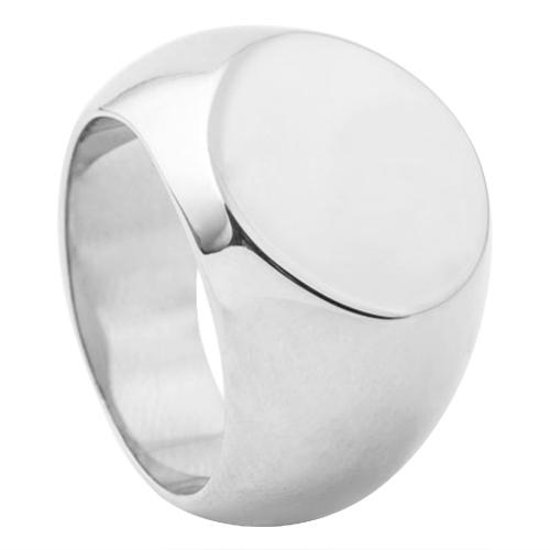 Plain Round Mens Signet Ring