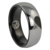 Tungsten Heart Mens Promise Ring