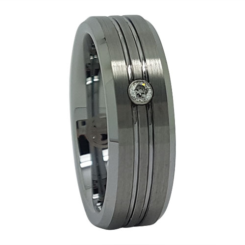 Mens Tungsten Engagement Ring