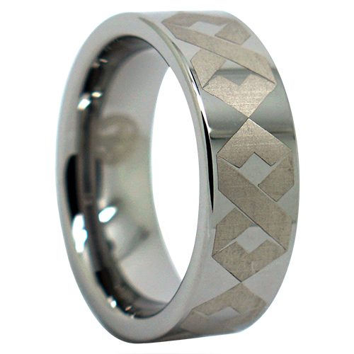 Mens Engraved Infinity Ring