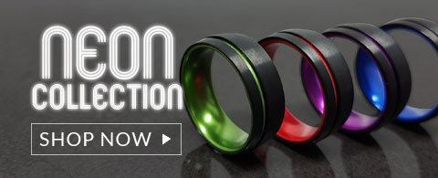 Neon Mens Tungsten Rings
