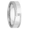 White Gold Brushed Half Stripes Diamond Mens Ring