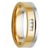 Yellow & White Gold Triple Princess Diamond Mens Ring