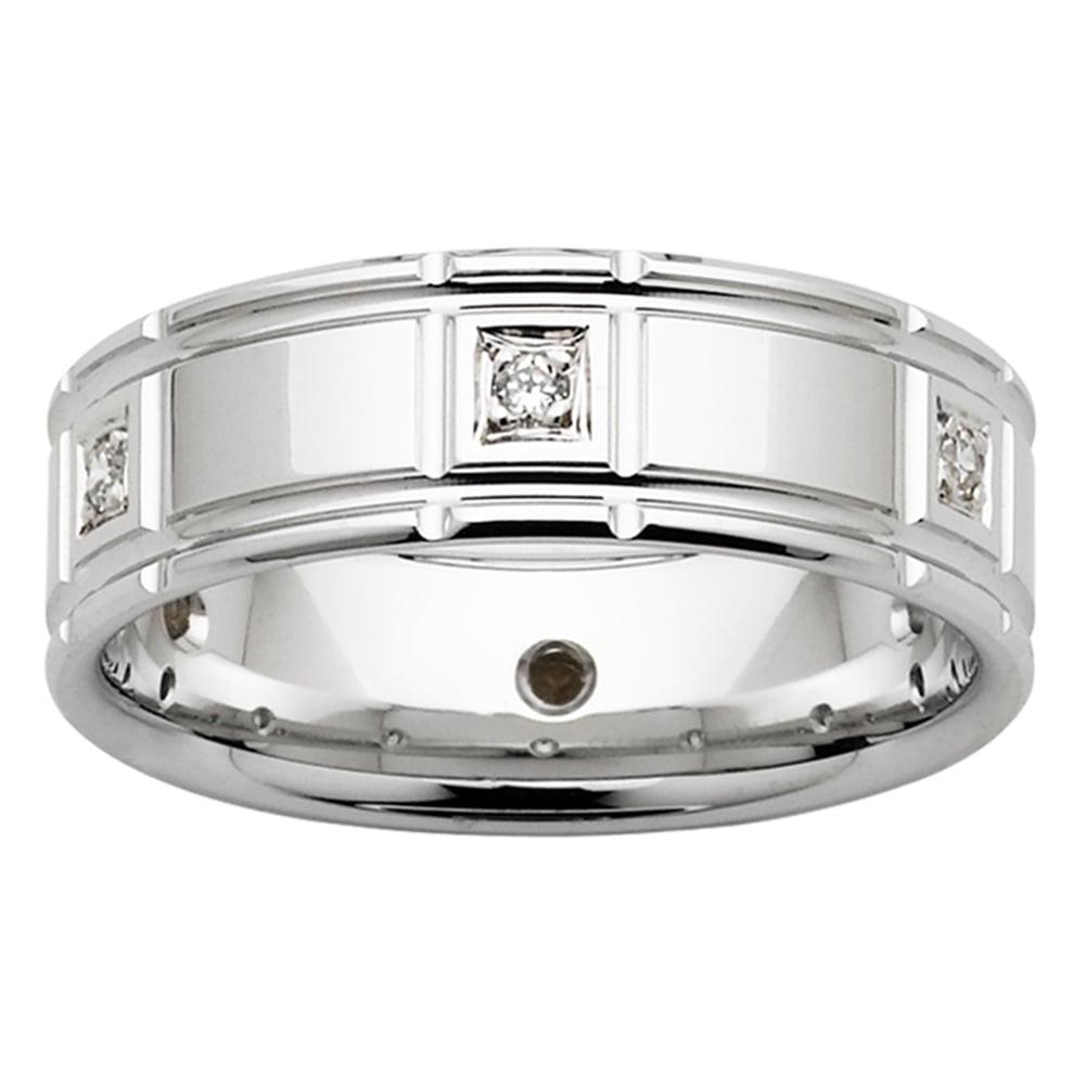 Art Deco Diamond White Gold Mens Ring