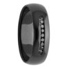 Black Diamonds Zirconium Mens Ring