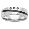 White Gold & Black Zirconium Mens Diamond Ring