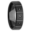 Black Zirconium & Black Diamonds Mens Ring