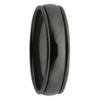 Rounded Step Edge Black Zirconium Mens Ring