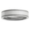 Skinny 5mm Matte Titanium White Gold Mens Ring