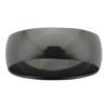 8 mm Polished Half Round Black Zirconium Mens Ring